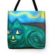 The Green Cat Tote Bag