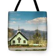 The Green Church Tote Bag
