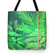 The Green Flower Garden Tote Bag by Darren Cannell