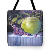 The Green Pot And Grapes Tote Bag