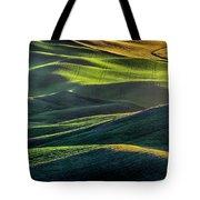 The Green Waves Of Palouse Wa Dsc05032  Tote Bag