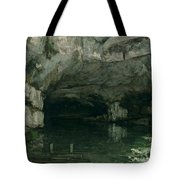 The Grotto Of The Loue Tote Bag by Gustave Courbet