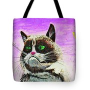 The Grumpy Cat From The Internets Tote Bag