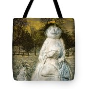 The Grunge Snowperson And Small Goth Friend Tote Bag
