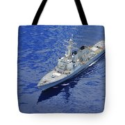 the guided-missile destroyer USS Okane Tote Bag