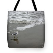 The Gulf In Shades Of Gray - Strutting Tote Bag