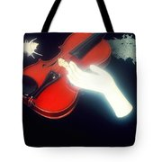 The Hand And The Violin Tote Bag