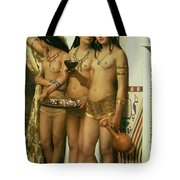 The Handmaidens Of Pharaoh Tote Bag by John Collier