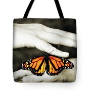 The Hands And The Butterfly Tote Bag