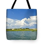 The Handys Camp On Sandy Neck Tote Bag