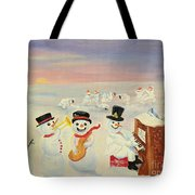 The Happy Snowman Band Tote Bag