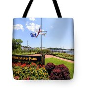 The Harbor Island Park In Mamarineck, Westchester County Tote Bag
