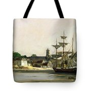 The Harbour At Honfleur Tote Bag