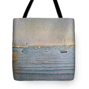 The Harbour At Portrieux Tote Bag