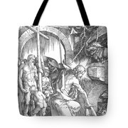 The Harrowing Of Hell Or Christ In Limbo From The Large Passion 1510 Tote Bag