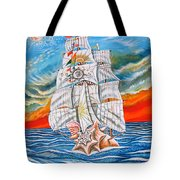 The Harvest Conchquest Tote Bag