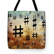 The Hashtag Storm Tote Bag