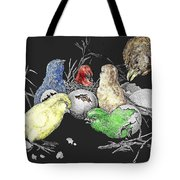 The Hatching Of Chicks. Tote Bag