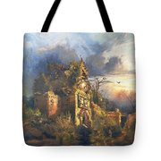 The Haunted House Tote Bag by Thomas Moran