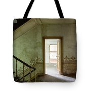 The Haunted Staircase - Abandoned Building Tote Bag