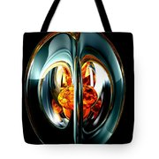 The Heart Of Chaos Abstract Tote Bag