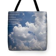 The Heavens Declare The Glory Of God Tote Bag