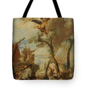 The Hebrews Gathering Manna In The Desert  Tote Bag