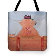 The Heiland Coo At Christmas Tote Bag