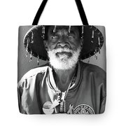 The Hero In Black And White Tote Bag