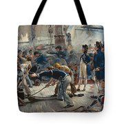 The Hero Of Trafalgar Tote Bag by William Heysham Overend