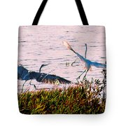 The Heron And The Egret Tote Bag