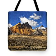 The High Andes Painted Version Tote Bag