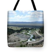 The Highway And The River Tote Bag