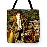 The Hills Are Alive In Santorini Tote Bag