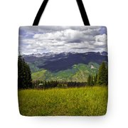 The Hills Are Alive In Vail Tote Bag
