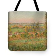 The Hills Of Thierceville Seen From The Country Lane Tote Bag