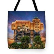 The Hollywood Tower Hotel Disneyland Tote Bag