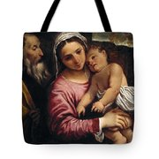 The Holy Family , Annibale Carracci Tote Bag