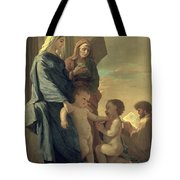 The Holy Family Tote Bag by Nicolas Poussin