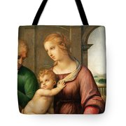 The Holy Family Tote Bag by Raphael