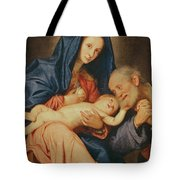 The Holy Family With A Basket  Tote Bag