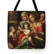The Holy Family With Saint Anne And Saint John Tote Bag