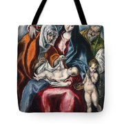 The Holy Family With Saint Anne And The Infant John The Baptist Tote Bag
