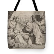 The Holy Family With Saint John The Baptist Tote Bag