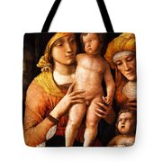 The Holy Family With St Elizabeth And St John The Baptist 1505 Tote Bag