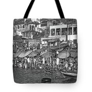 The Holy Ganges - Paint Bw Tote Bag