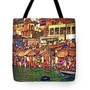 The Holy Ganges - Paint Tote Bag