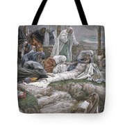 The Holy Virgin Receives The Body Of Jesus Tote Bag by Tissot