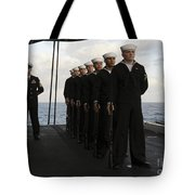 The Honor Guard Stands At Parade Rest Tote Bag