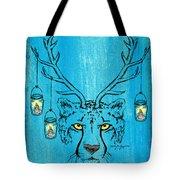 The Horned Cheetah Tote Bag